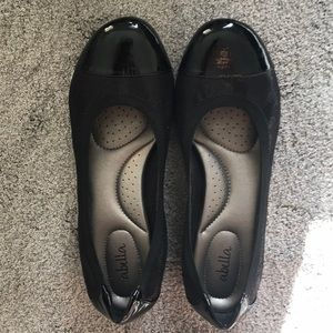 Abella Black Flats size 9